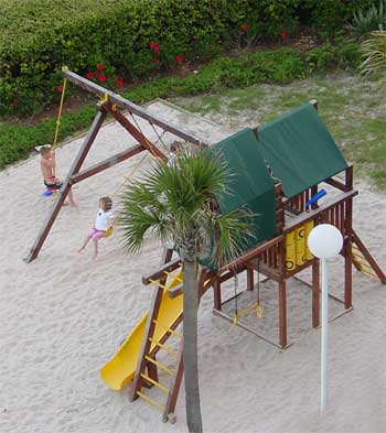 Oceanfront playground for the kids on the north end of Myrtle Beach